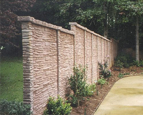 Heritage Concrete Fence Manufactured In North Carolina